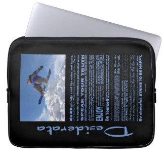 Desiderata-Gedicht-Extrem-Skifahrer Laptopschutzhülle