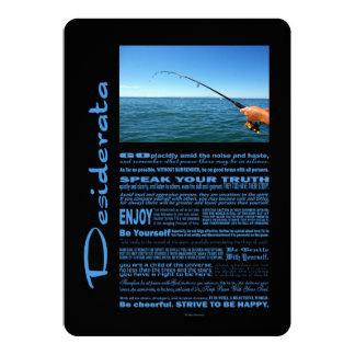 Desiderata-Gedicht-Fischen mitten in dem Ozean 12,7 X 17,8 Cm Einladungskarte
