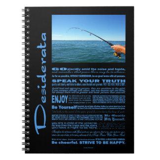 Desiderata-Gedicht-Fischen mitten in dem Ozean Spiral Notizblock