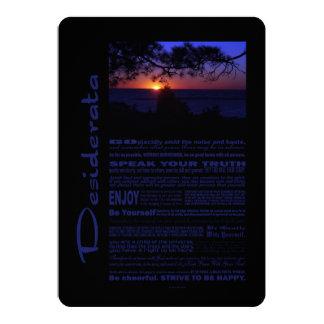Desiderata-Gedicht-schöner Sonnenuntergang-Baum #2 12,7 X 17,8 Cm Einladungskarte