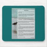 Desiderata-Gedicht - Seemöwe auf der Strand-Szene Mauspad