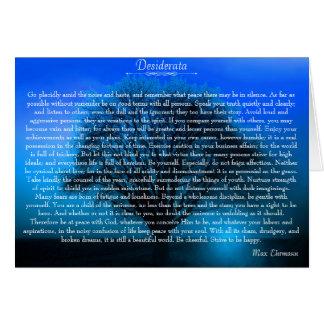Desiderata-inspirierend Devotional Gedicht Karte