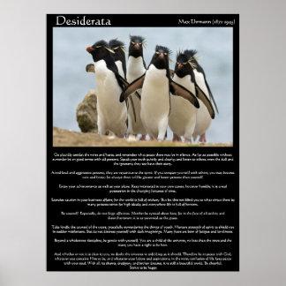 Desiderata-Pinguin-gehende Plakate