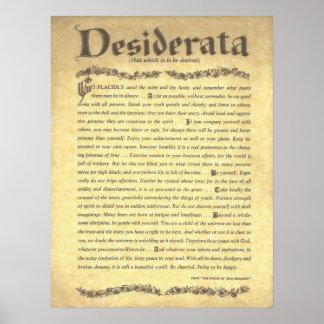 DESIDERATA Poem=Max Ehrmann=Parchment Sammlung Poster