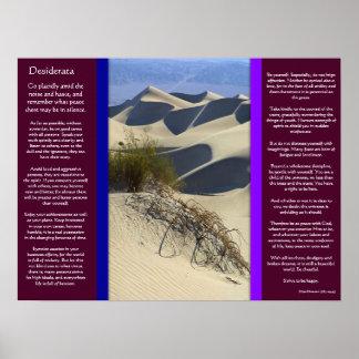 DESIDERATA Sand verurteilt Plakate