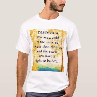 DESIDERATA verblaßten Espen-T - Shirt