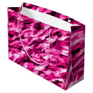 Designer-Camouflage im heißen Rosa Große Geschenktüte