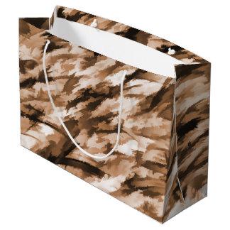 Designer-Camouflage in der Beige und in gebranntem Große Geschenktüte