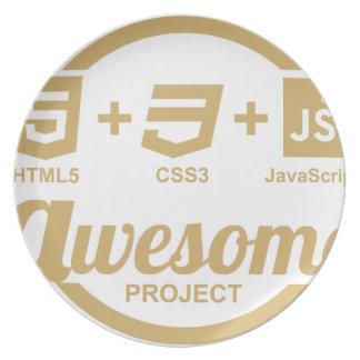 Designer-fantastisches T-Shirt Css3 des Netz-HTML5 Flacher Teller