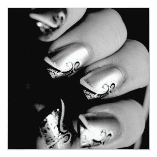 Designer-Fingernägel Personalisierte Ankündigung
