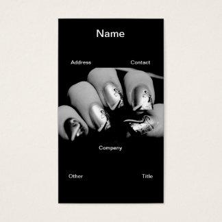 Designer-Fingernägel Visitenkarte