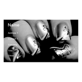 Designer-Fingernägel Visitenkarten