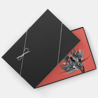 Designer Guestbook mit Blumen Gästebuch