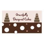 Designer-Kuchen Visitenkarten Vorlage