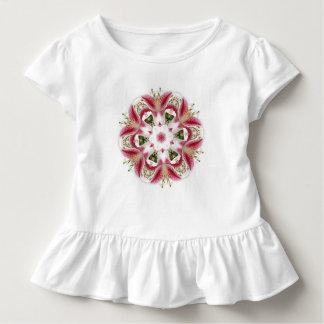 DESIGNER-ROSA LILIEN-BLUMENMandala-ART BOTANISCH Kleinkind T-shirt