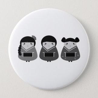 Designerplastik rund: Geishas Runder Button 10,2 Cm