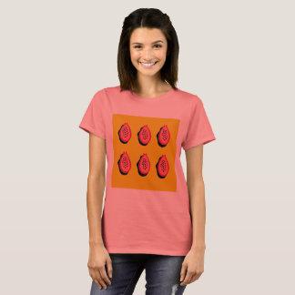 Designersommer-Damen T-Shirt: PAPAYA-ZEICHNEN T-Shirt