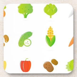 Designert-shirt mit handdrawn Biofrucht Untersetzer