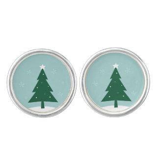 Designerweihnachtsmanschettenknöpfe mit Baum Manschetten Knöpfe