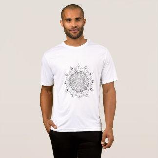 Desing Schwarzweiss-Blume des schönen Mandala T-Shirt