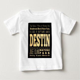 Destin Stadt der Florida-Typografie-Kunst Baby T-shirt