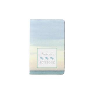 Destins Smaragdküsten-Wasser Moleskine Taschennotizbuch