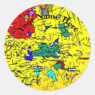 Detail abstrakt runder aufkleber
