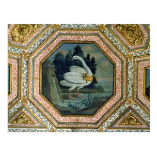 Detail der Deckendekoration im Salon Postkarte