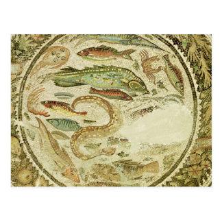 Detail der Fische, die vier Jahreszeiten, von Vega Postkarte