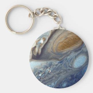 Detail der Jupiter-Atmosphären-großen roten Stelle Schlüsselanhänger