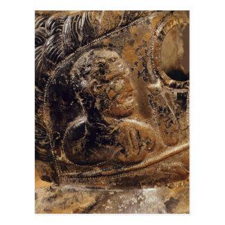 Detail der Maske eines Gladiators Postkarte