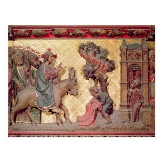 Detail des Eintritts von Christus in Jerusalem Postkarte