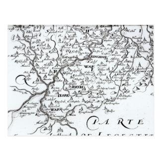 Detail einer Karte des Landkreises von