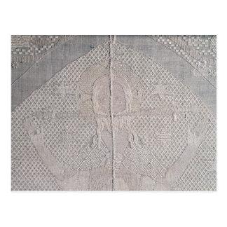 Detail eines altarcloth mit Christus von Postkarte