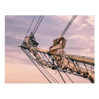 Detail eines Segelschiffs Postkarte
