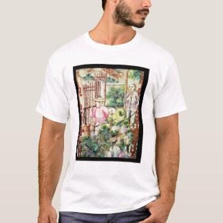 Detail eines Vase mit den Männern, die T-Shirt