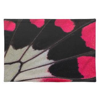 Detail-Flügel-Muster des tropischen Tischset