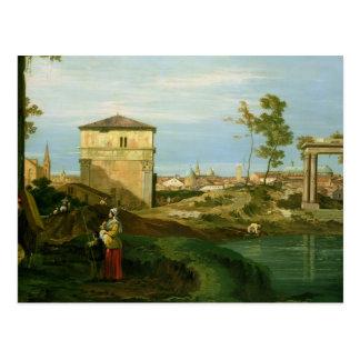 Detail von 'Capriccio mit Motiven von Padua Postkarte