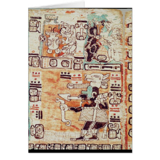 Detail von einem Mayakodex Karte