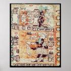 Detail von einem Mayakodex Poster