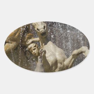 Detail von Fontana d'Artemide, Ortigia Ovaler Aufkleber