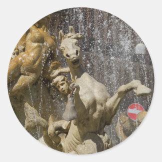 Detail von Fontana d'Artemide, Ortigia Runder Aufkleber