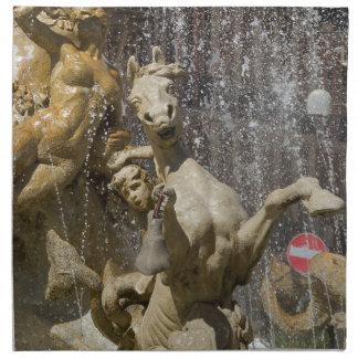 Detail von Fontana d'Artemide, Ortigia Stoffserviette