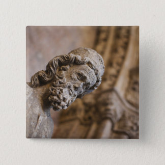 Detail von Klöster Patriarch Zacarias Statue Quadratischer Button 5,1 Cm