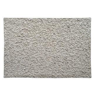 Detail von ungleichem granuliertem der grauen tischsets