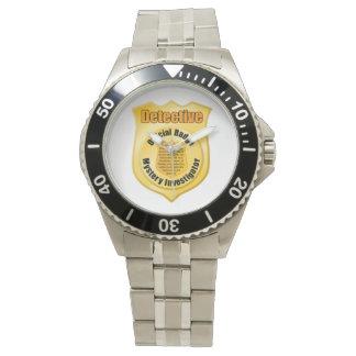 Detektiv-Abzeichen-Uhr Uhr