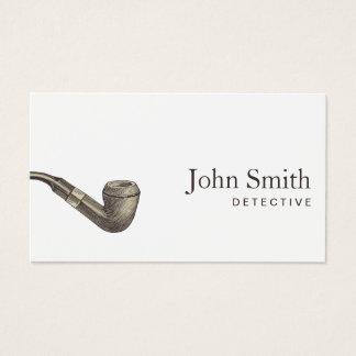 Detektiv-einfaches Retro Rohr beruflich Visitenkarte