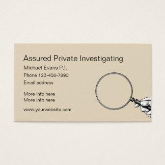 Detektiv-Entwurf Visitenkarte
