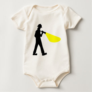 Detektiv mit Taschenlampe Baby Strampler