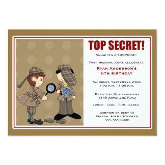 Detektiv-Überraschungs-Party Einladung